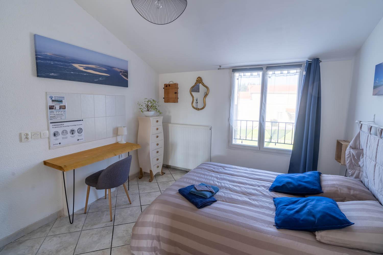 La chambre La Dune à la closerie du chêne bleu Location de chambres d'hôtes près de bordeaux