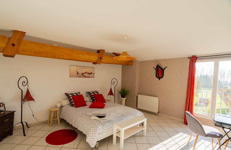 Chambre Les Callonges à la closerie du chêne bleu Location de chambres d'hôtes près de bordeaux